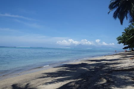 Tahiti, Paea-Dizneuf9, Le lagon à portée de main - Paea - Haus