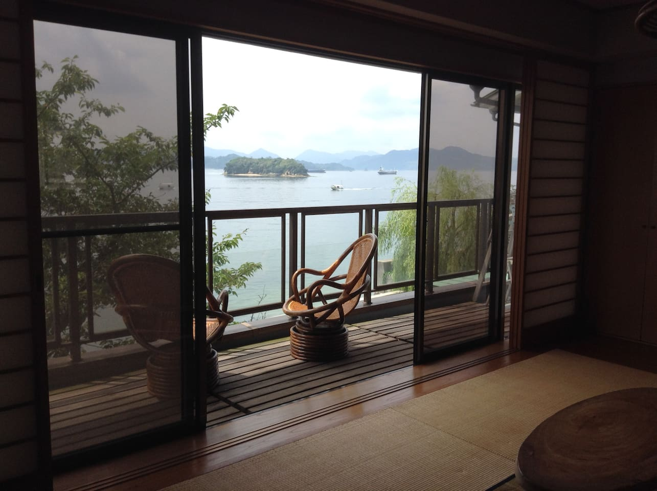 Every room commands a beautiful view of Setouchi.