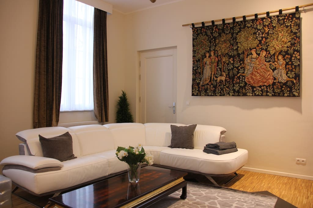 One of the appartments, this one suits two persons and has private terrace.