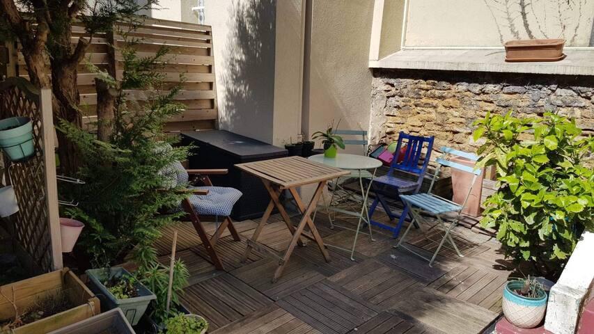 Nouveau: Appart avec jardin/terrasse parc des expo