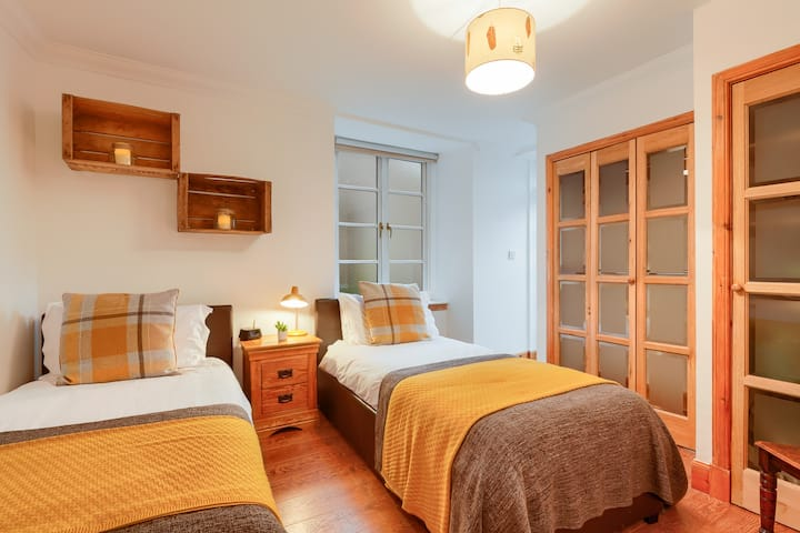 Spacious one bedroom apartment in historic village