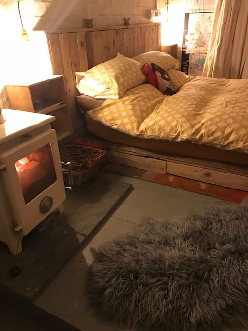 Snuggle down by the cosy Woodburner