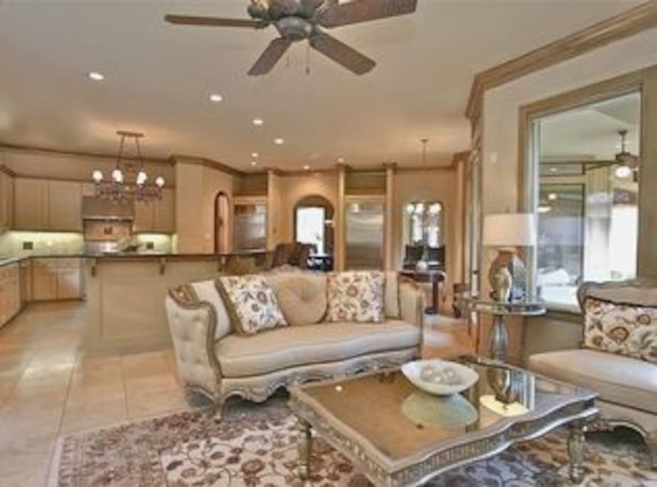 Formal sitting room attached to kitchen