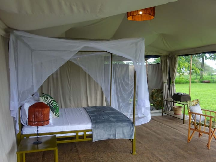 Bush Tented camp In Selous Game Reserve.