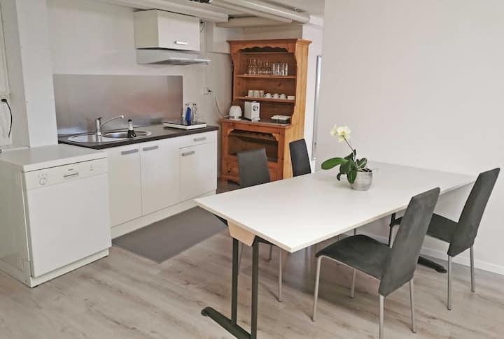 Modernes Studio in Zweifamilienhaus im Grünen