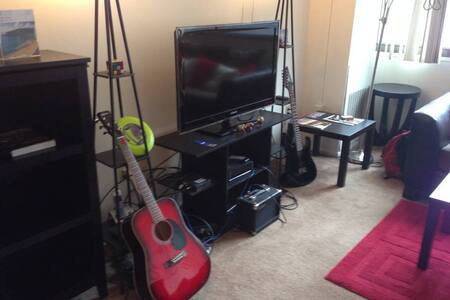 Downtown facing Elegant Living room - Cleveland - Apartment