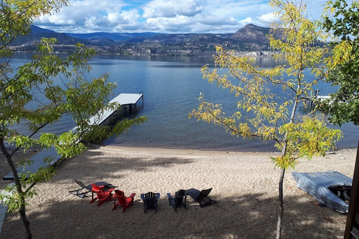 Naramata Waterfront with Private Beach and Dock