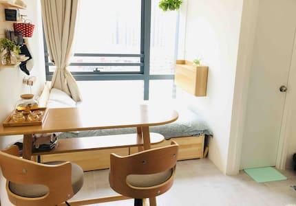 Bright Cozy Studio😎 - 舒適開放式公寓(8分鐘到太子/旺角/奧運站)