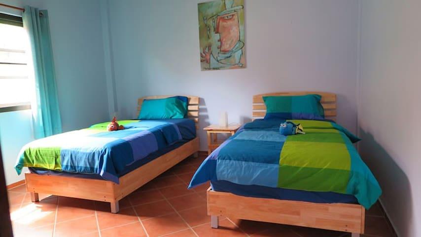 Bedroom with comfortable mattress