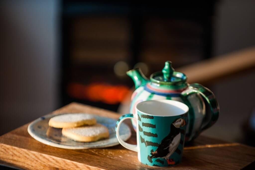 Tea and homemade shortbread