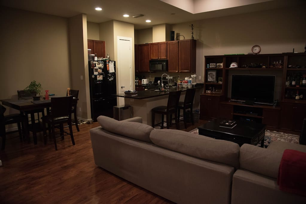 Open kitchen with Living Room