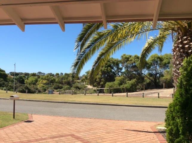 Views of opposite parkland