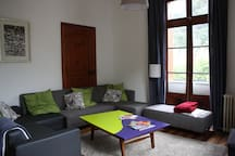 Shared lounge with TV and lots of board games for all the family