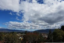 This is the view you have from the terrace, Oaxaca sky is simply  awesome.