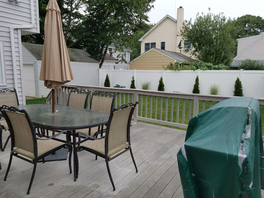 Deck and Yard