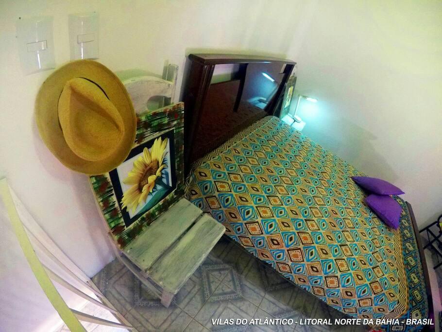 Pavimento Superior Suite com ventilador e wifi.