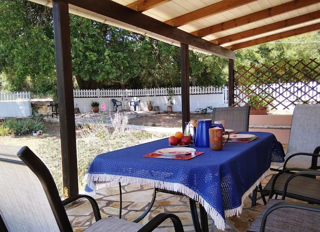 Have your  breakfast on the covered terrace.