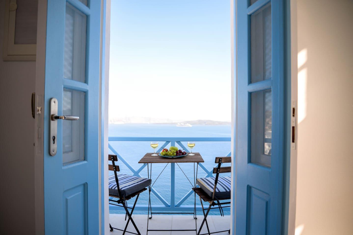 Caldera and Sea View Balcony