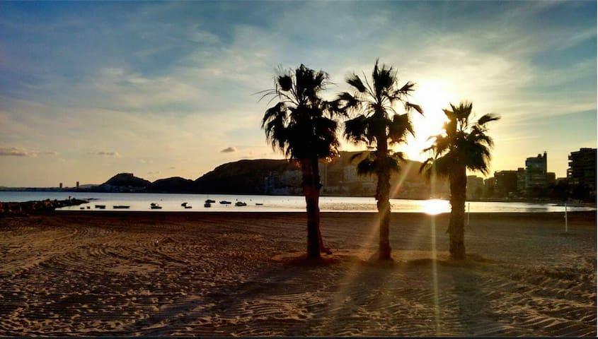 Playa con acceso directo