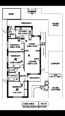 The floor plan. The room in question is closest to the front door and is the biggest in the house.