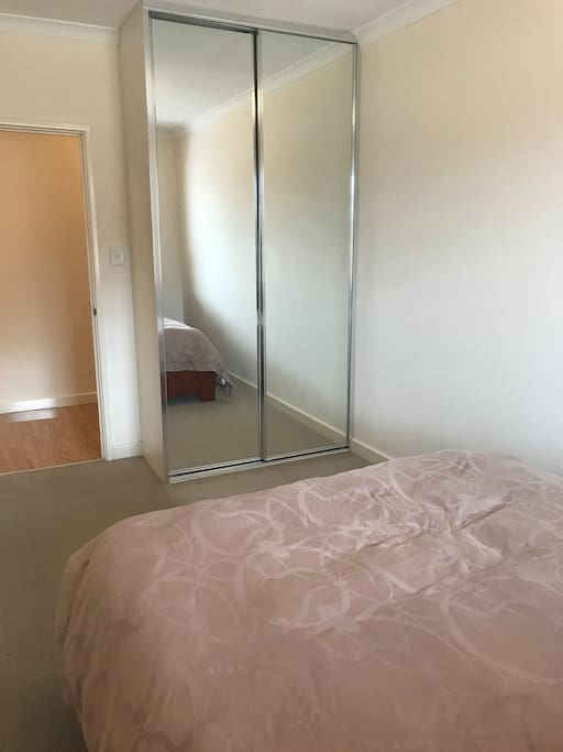 Built in mirrored robes in both rooms