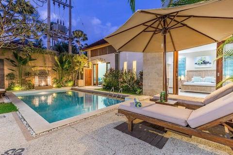 3 bedrooms charming villa central seminyak