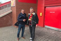 Liverpool legend Alan Kennedy with Peter from Munich, Germany.