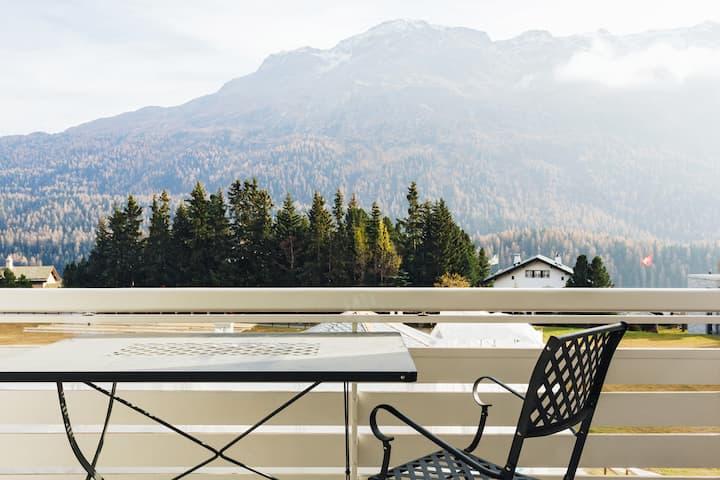 White house in the heart St.Moritz