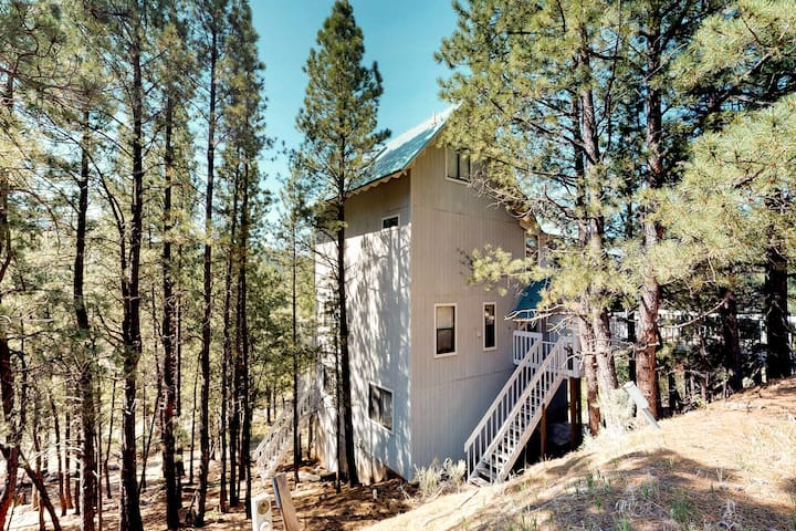 Comfortable & secluded home w/full kitchen, wood stoves & decks