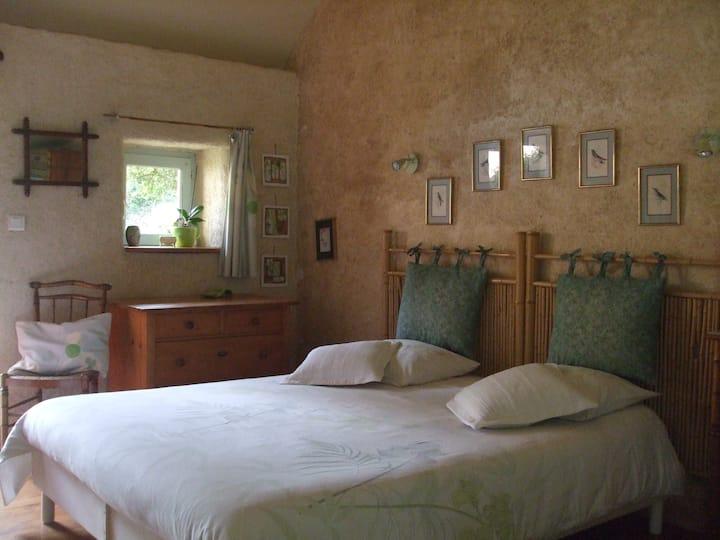 """""""La sirène endormie""""chambre 2 pers dans chaumière"""