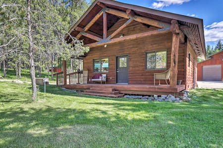 40-Acre Trego Resort Cabin w/ Lake & Trails!