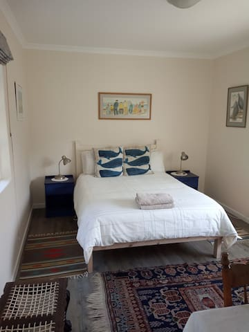 Comfy bedroom with heating and electric blanket (rarely needed)