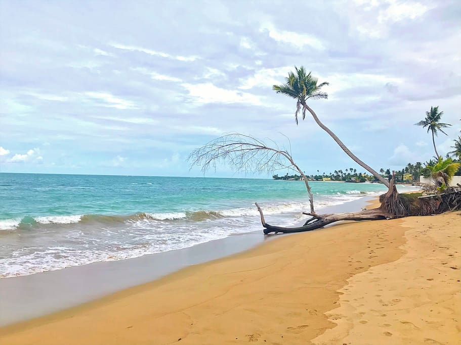 Just steps away, Our private beach on October 15, 2018