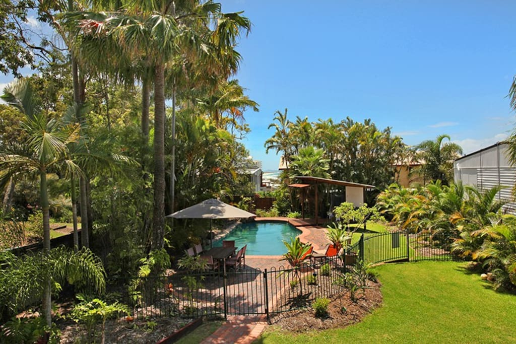 Large Pool with out door Dinning and relaxation gazebo