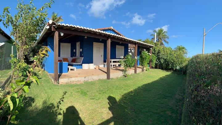 Casa azul, unique location on the Praia do Giz