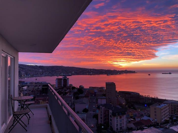 Hermosa Vista Valparaíso! 3D/2B, Wifi, Parking