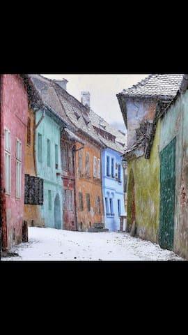 Casa Saseasca, Romance Room - Sighișoara - Aamiaismajoitus