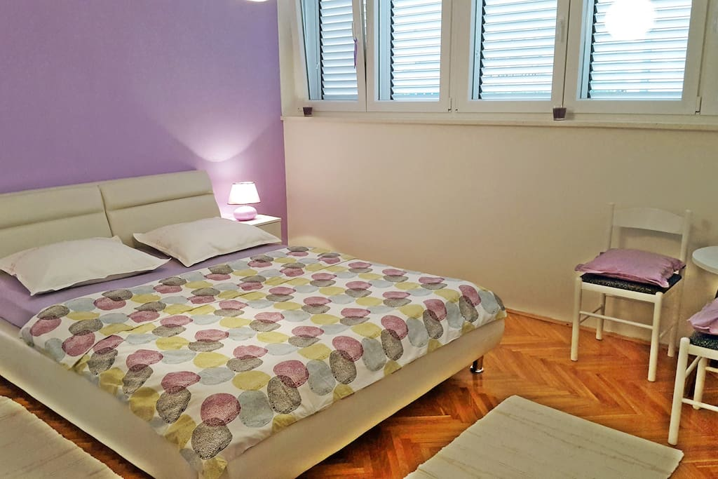 Double bed and corner for chatting