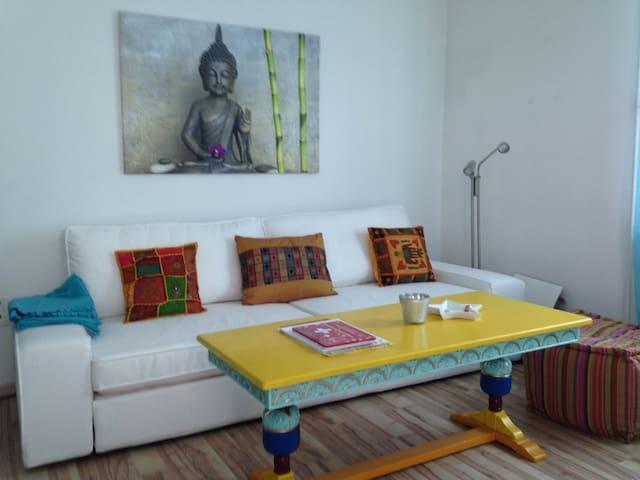 Heimelige Wohnung 100 m von der Stadtgrenze Basel - Allschwil - Apartament