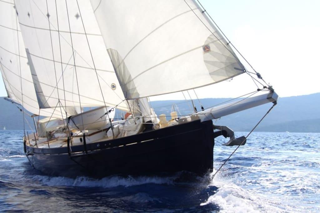 Dragut on sailing