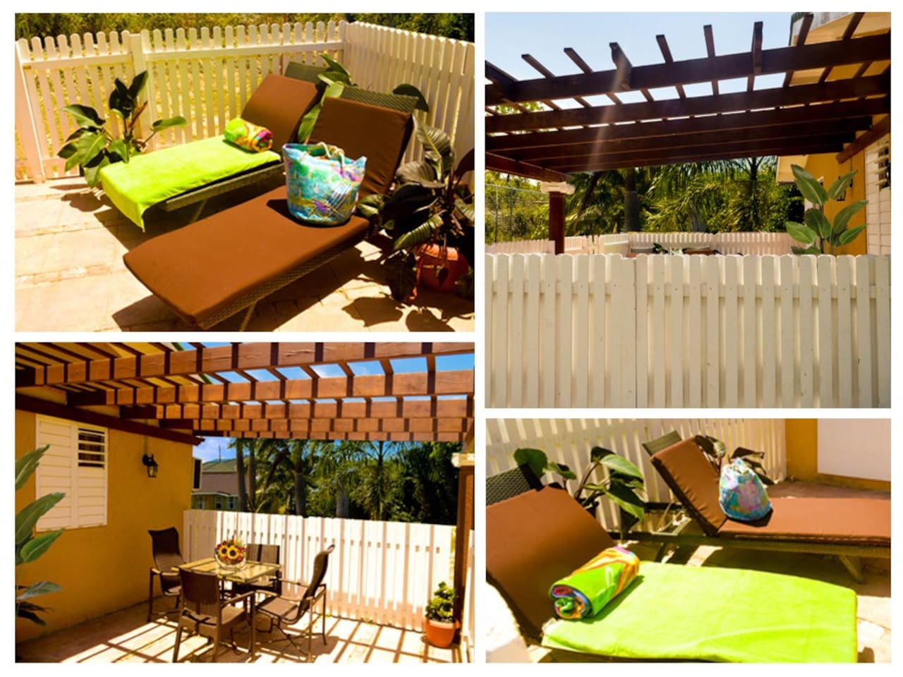 Relax or dine on the back patio / sun deck