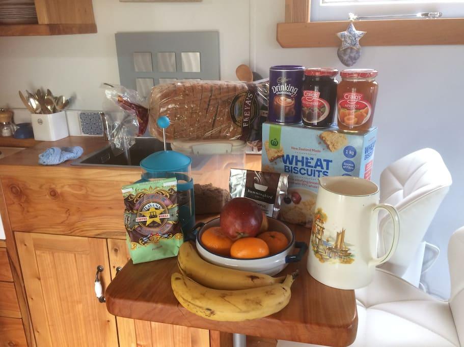 Breakfast supplies , included in tariff