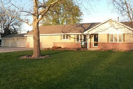 Central KS house.  Host stays. 1-6 people. 2nt min