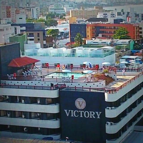 Victory Flat frente ao mar em Tambaú TOP Cama king