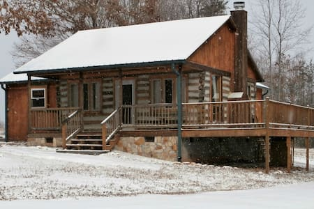 Private Handmade Log Cabin - House