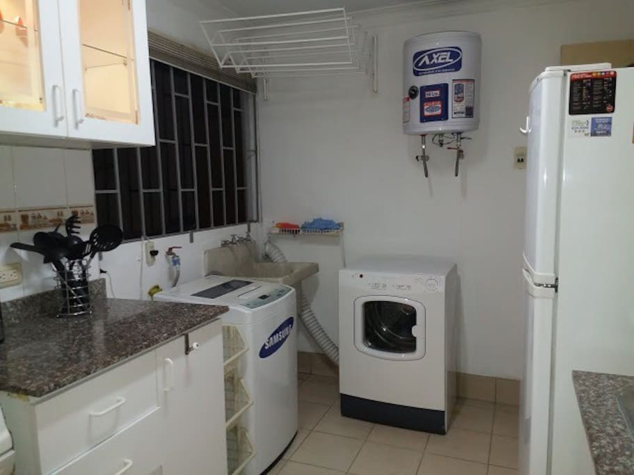 Full kitchen including washer and dryer