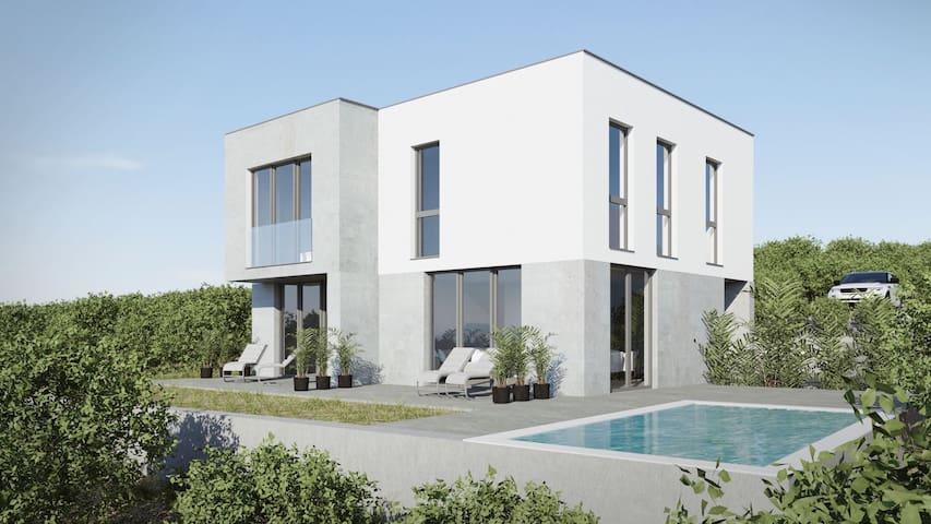 Zrće-St.Novalja,modern new house 140 m2, own pool