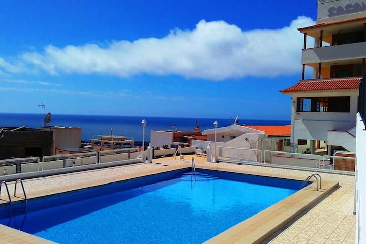 MB Gold Apartment Pool Los Cristianos Playa Vista