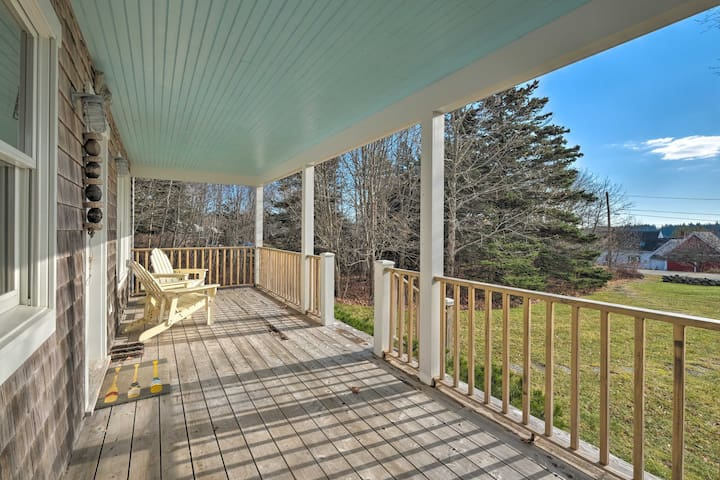 Step out to your covered porch and listen to the chirping birds.