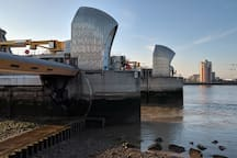 Scenic view to the Thames Barrier and beyond!